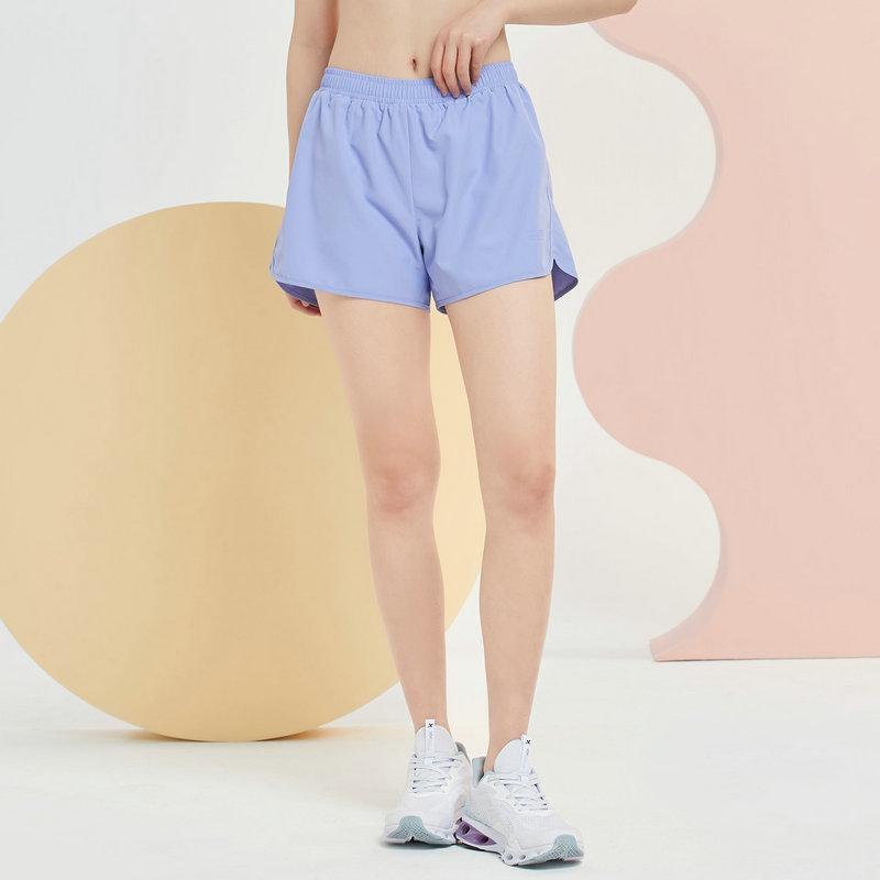 特步 女子梭织短裤 21年新款 综训运动跑步休闲短裤879228670242