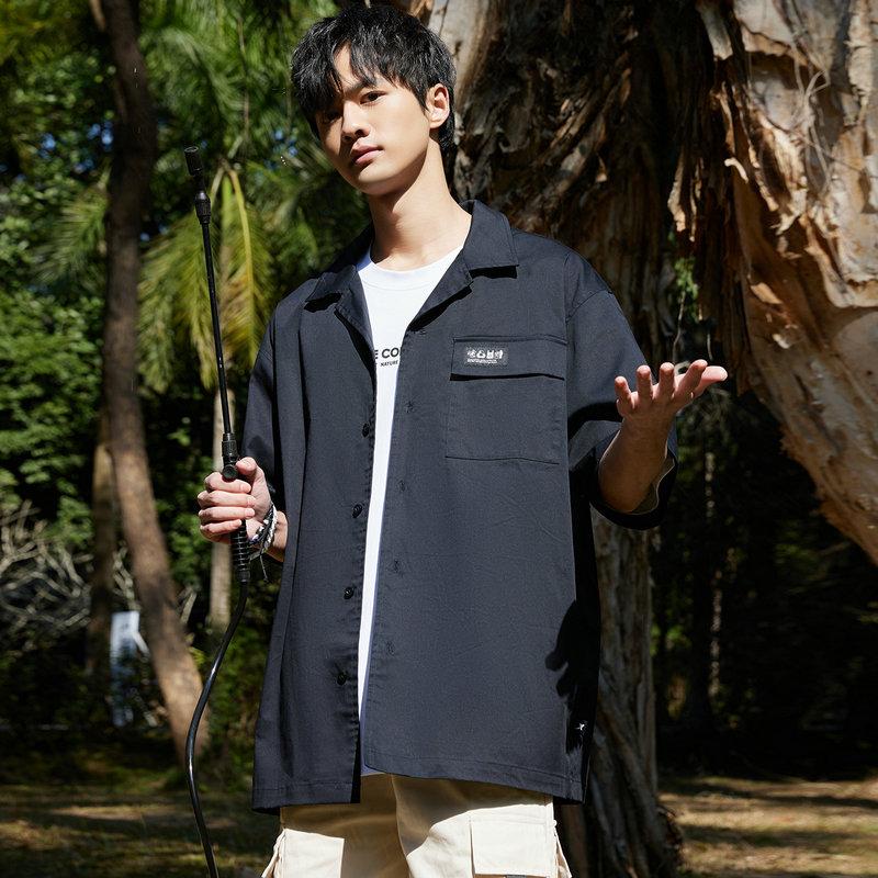 【未来可期】特步 男子休闲衬衫 21年新款 都市时尚潮流夏季短袖衬衫879229250163