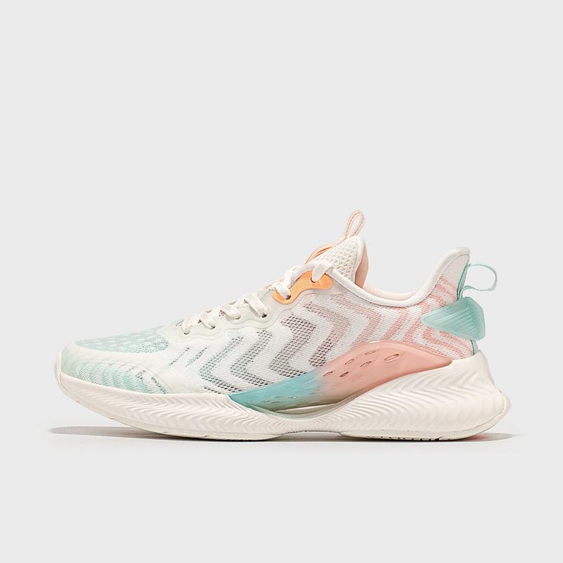 【氢风4.0】特步 女子跑鞋 21年新款 厚底减震网面透气运动鞋879218110517