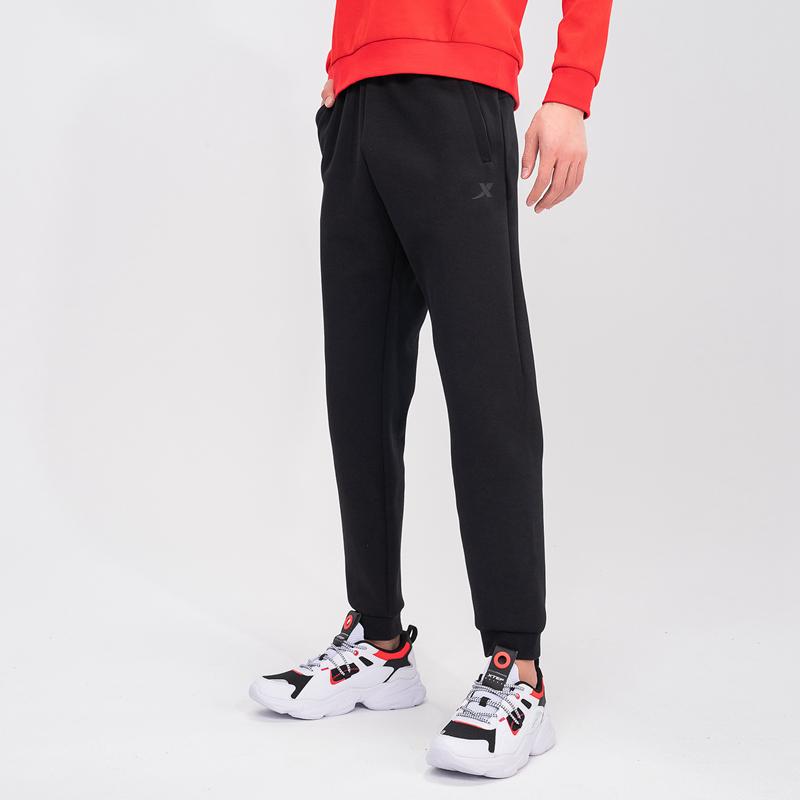 特步 专柜款 男子针织长裤 春季新款运动综训透气百搭小脚裤979129630544