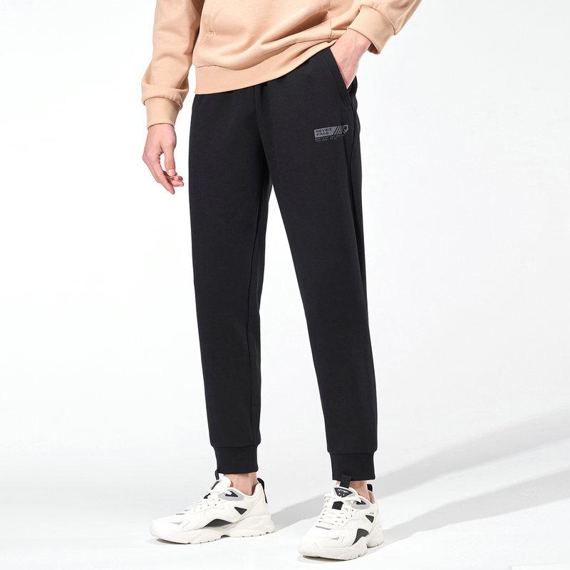 特步 专柜款 男子新款百搭综训运动针织长裤979129630304