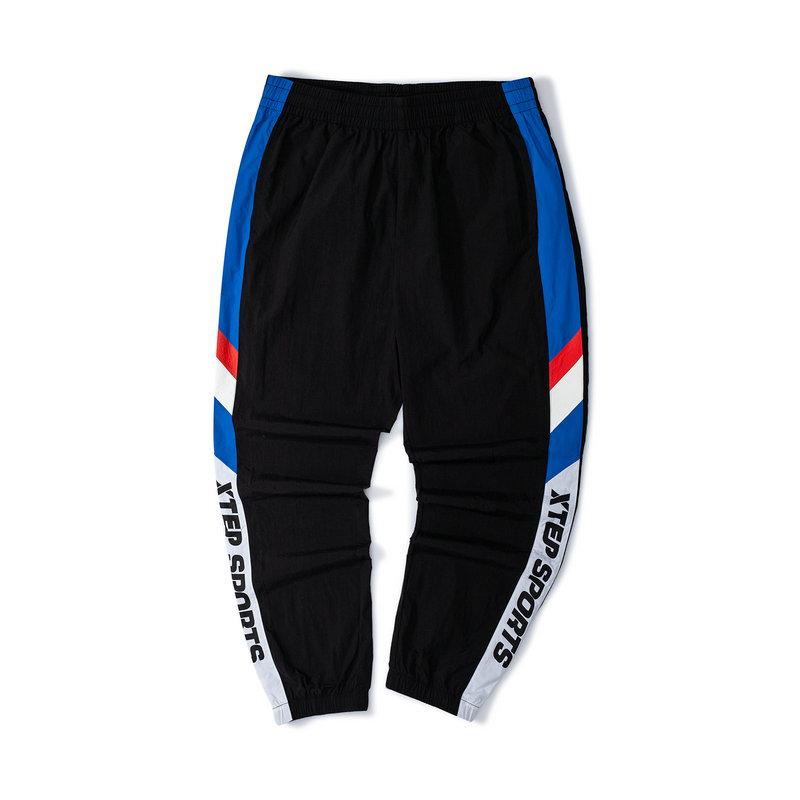 特步 男子长裤 新款梭织数字运动会束脚休闲裤长裤879229980078