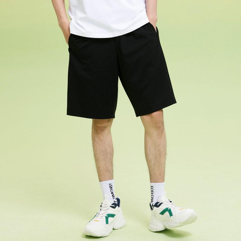 特步 男子针织中裤 21年新款 活力舒适透气运动短裤879229610076