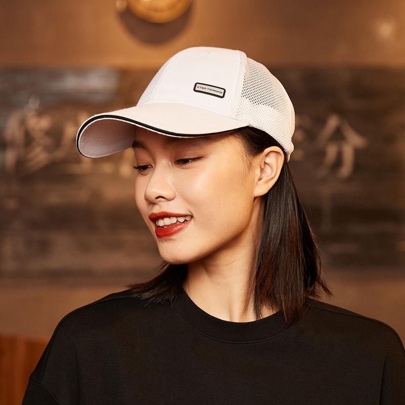 特步 男女同款运动帽 21年新款 中性潮流透气鸭舌帽879137210010