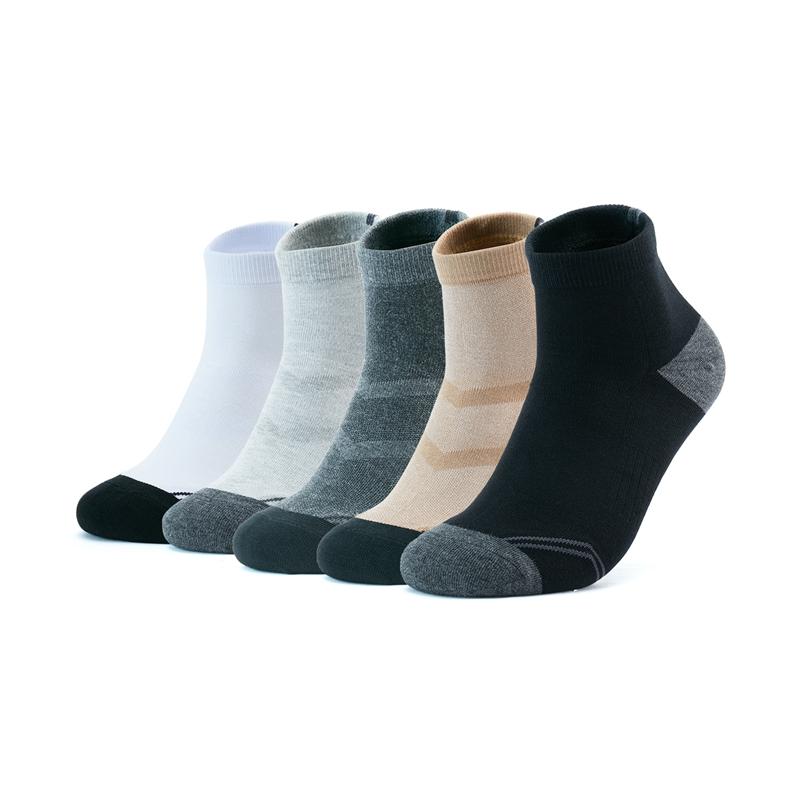 特步 男子平板中袜(5双装) 舒适耐磨中袜879139550085