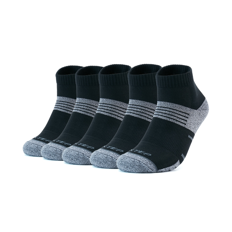 特步 男子平板中袜(5双装)21年新款 透气百搭潮流袜子879139550086