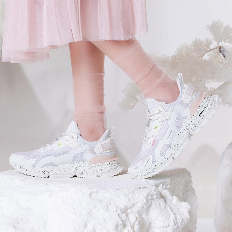 【山海】特步 女子休闲鞋 21年新款 网面透气时尚百搭休闲鞋879218320528