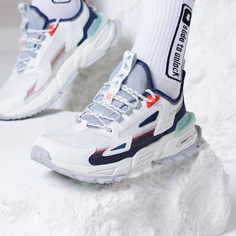 【山海】特步 男子休闲鞋 21年新款 拼接撞色潮流运动休闲鞋879219320565