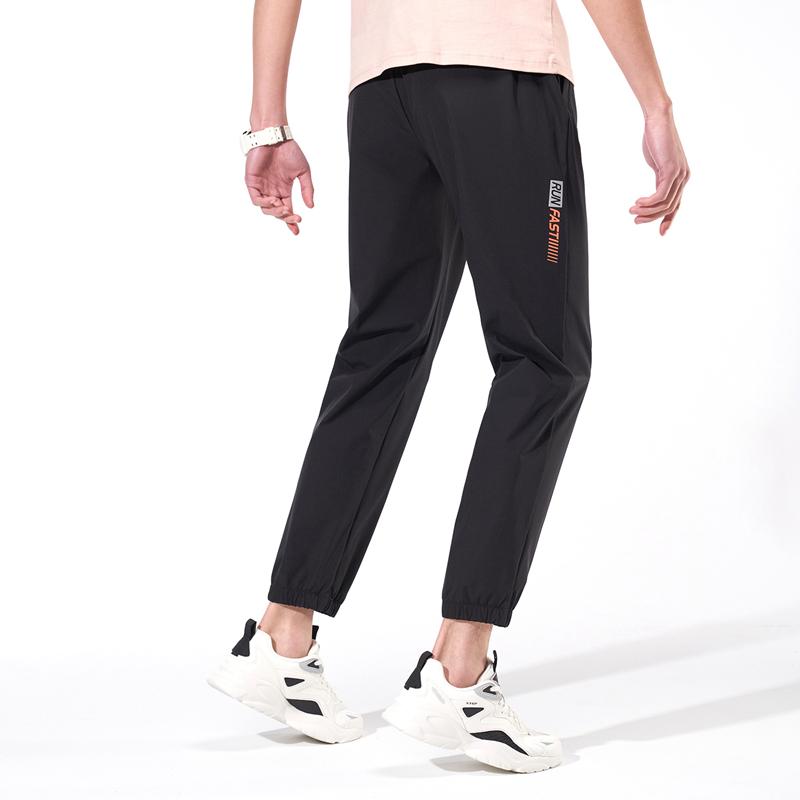 特步 专柜款 男子长裤 跑步运动梭织透气长裤979129980191
