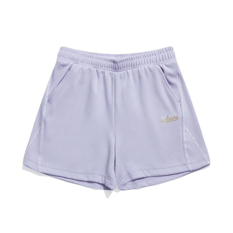 特步 专柜款 女子短裤 都市休闲时尚百搭针织短裤979228600058