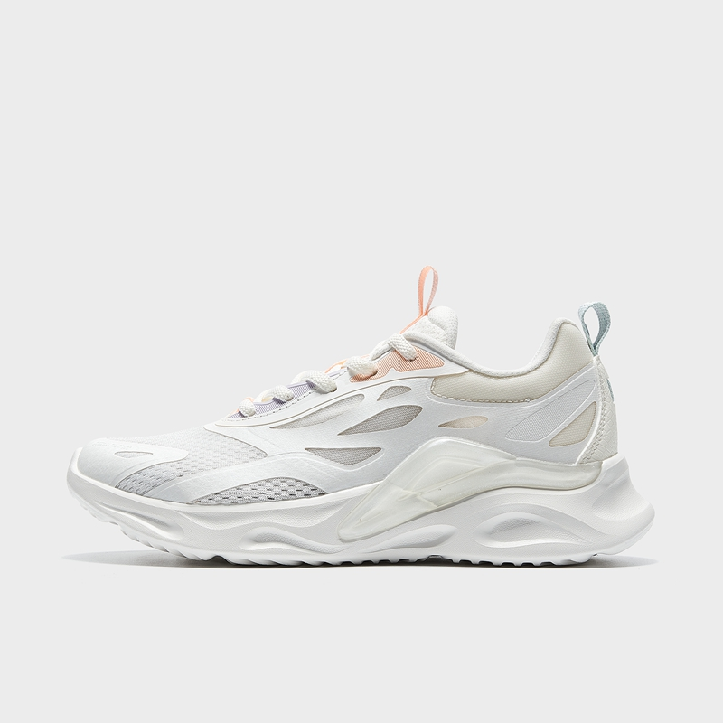 特步 专柜款 女子跑鞋 21年新款 厚底网面舒适减震跑步鞋979218111157