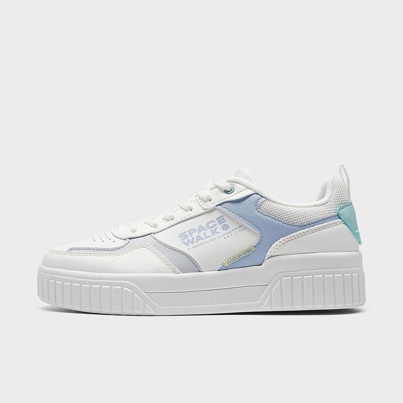 特步 专柜款 女子板鞋 21年新款 春夏素雅休闲小白鞋979218316936