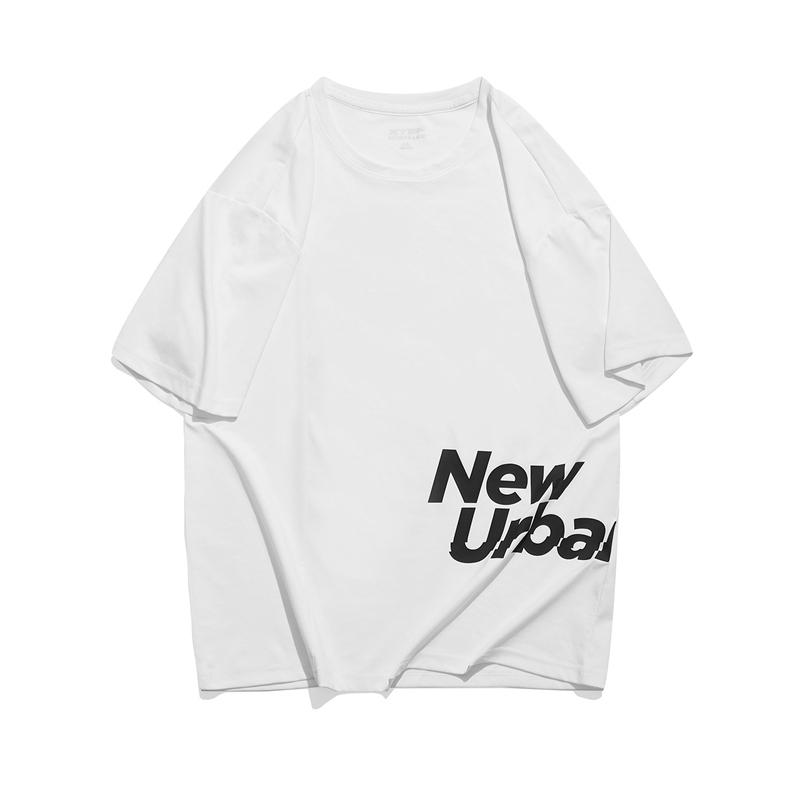 特步 专柜款 男子短袖针织衫 都市简约时尚舒适T恤979229010033