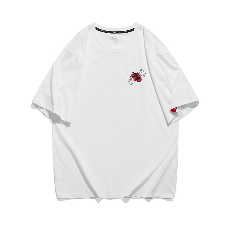 特步 专柜款 男子短袖针织衫 21年新款跨界哪吒潮流T恤衫979229010480