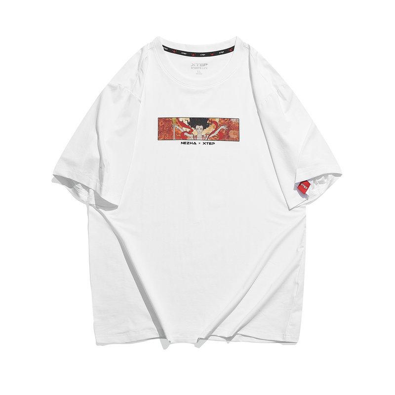 特步 专柜款 男子短袖针织衫 21年新款 魔童降世潮流短T恤979229010588