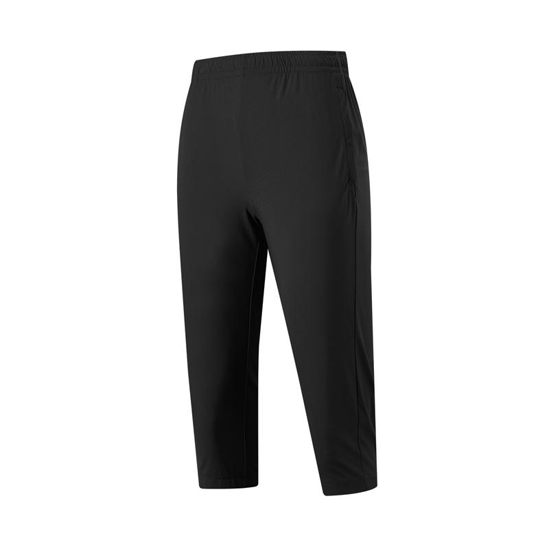 特步 专柜款 女子针织七分裤 21年新款 运动跑步七分裤979228620208
