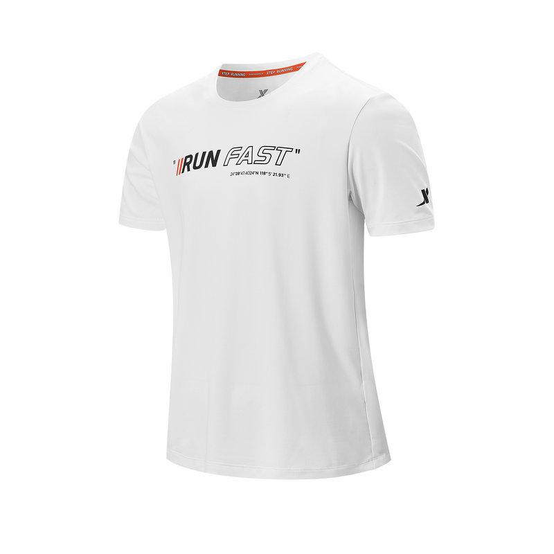 特步 专柜款 男子短袖针织衫 21年新款 跑步运动透气短T恤979229010248