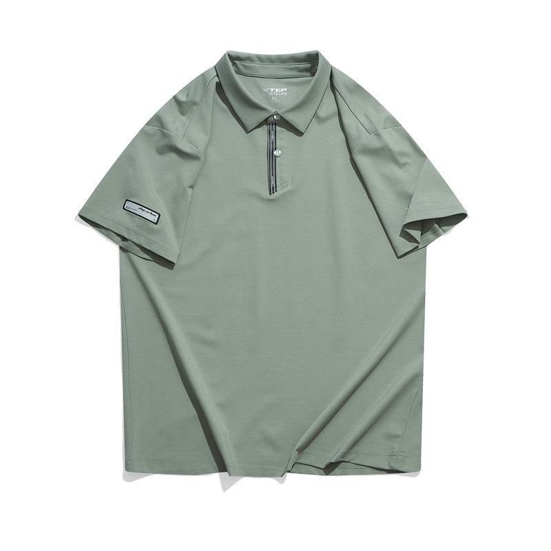 特步 专柜款 男子短袖POLO衫21年新款 休闲时尚户外上衣 979229020040