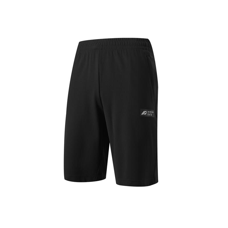 特步 专柜款 男子针织中裤 21年新款 夏季新款跑步时尚百搭短裤 979229610506