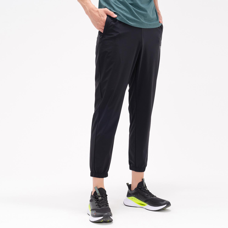 特步 专柜款 男子梭织九分裤 21年新款 夏季新款运动时尚束脚九分裤979229690230
