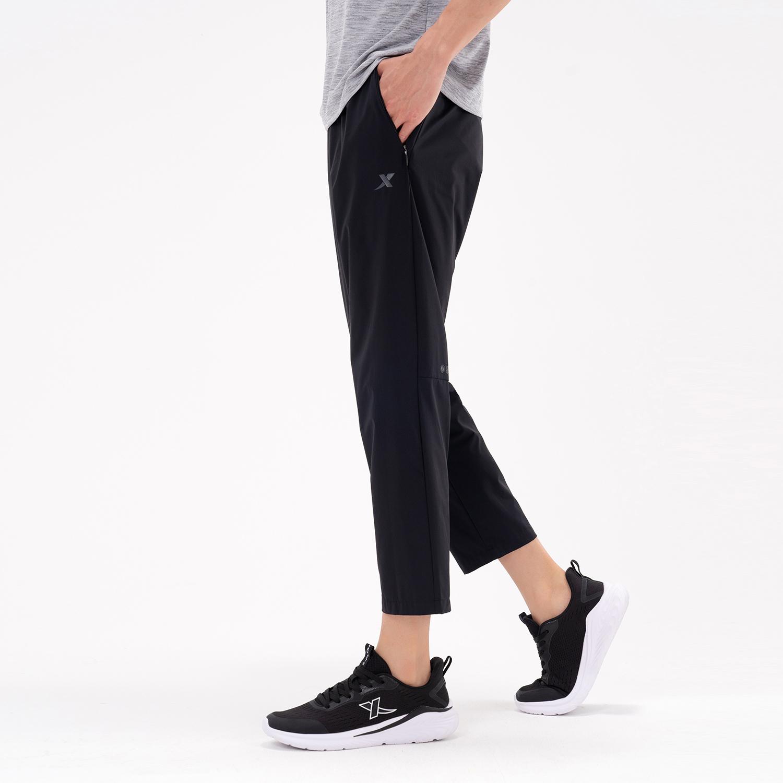 特步 专柜款 男子梭织九分裤 21年新款 夏季新款运动时尚休闲九分裤979229690304