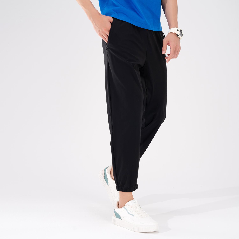 特步 专柜款 男子针织九分裤 21年新款 夏季新款百搭休闲舒适九分裤979229840055