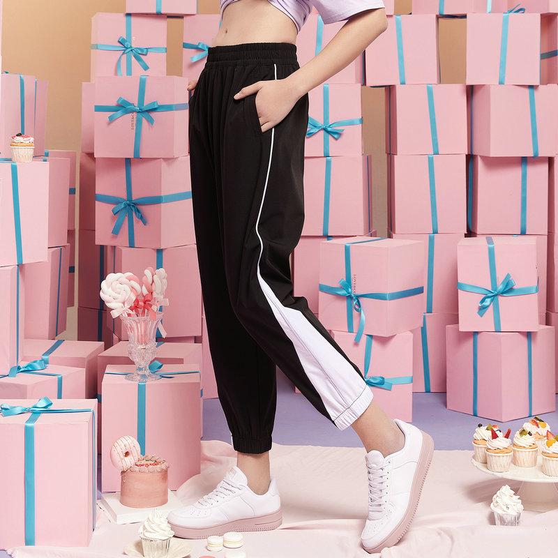 特步 女子梭织运动长裤 21年新款 运动时尚休闲长裤 879228980008