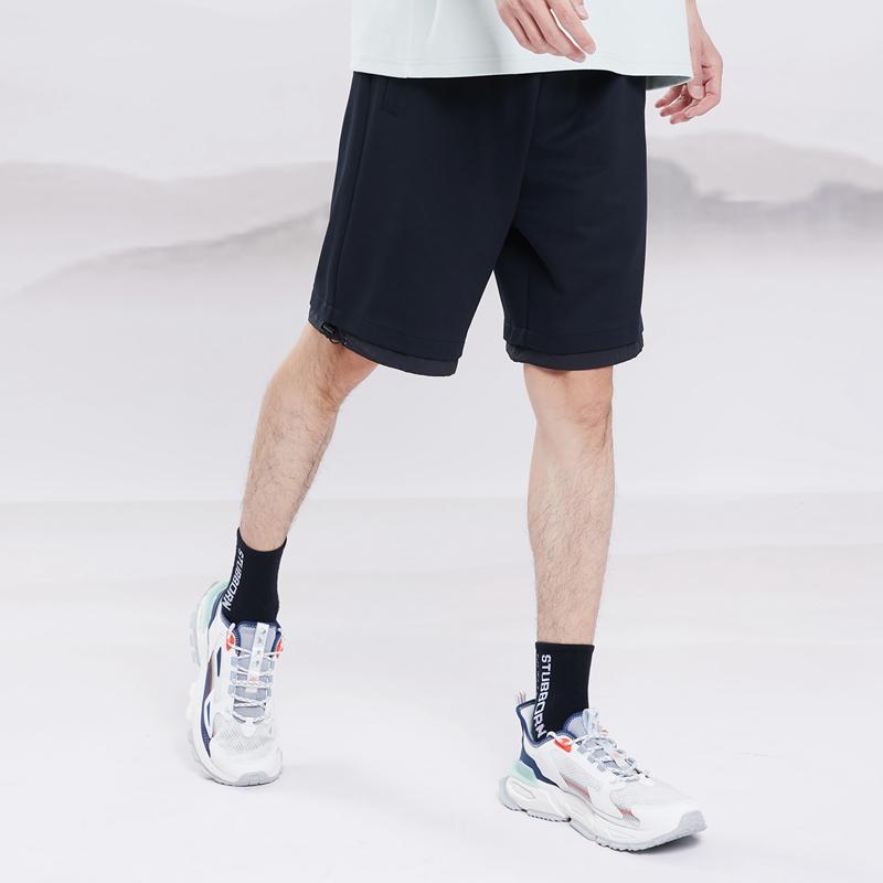 【天乘】特步 男子针织中裤 21年新款 潮流运动休闲裤879229610292