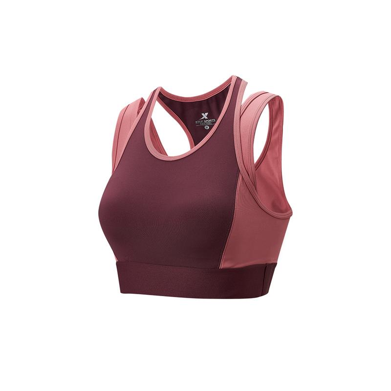 特步 专柜款 女子胸衣 21年新款 专业健身运动跑步bra背心979128590415