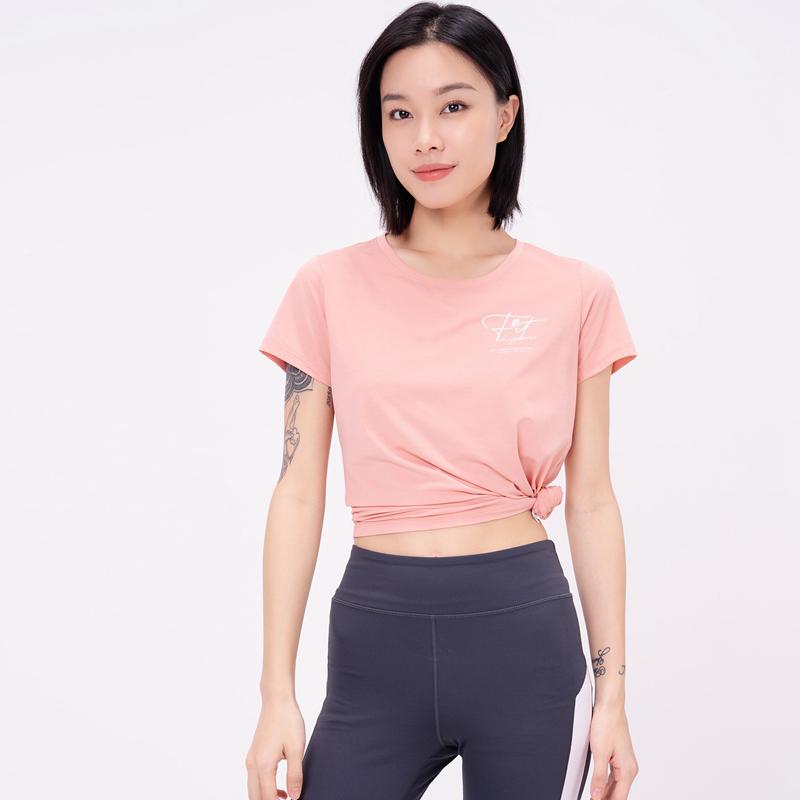 专柜款 女子短袖针织衫 21年新款 休闲轻薄运动T恤979228010359