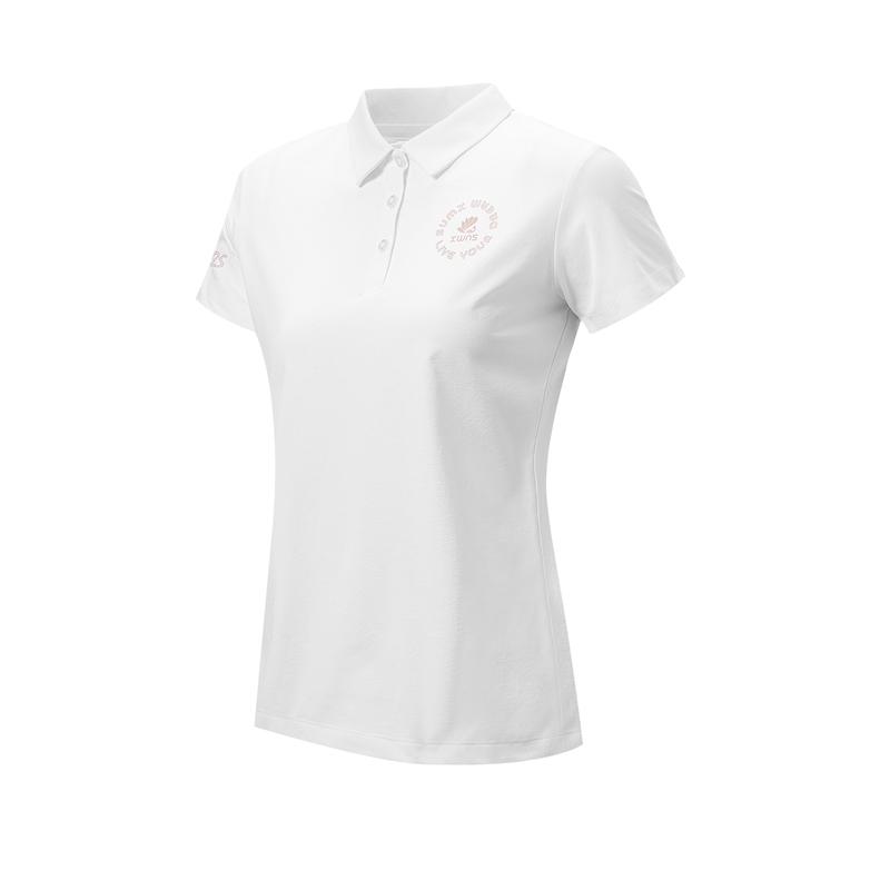 特步 专柜款 女子短袖POLO衫 21年新款休闲时尚百搭T恤979228020486