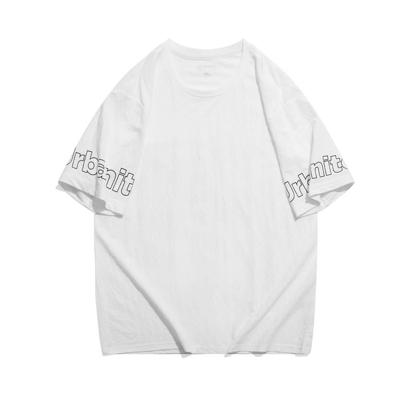 特步 专柜款 男子短袖针织衫 21年新款 透气时尚户外T恤979229010028