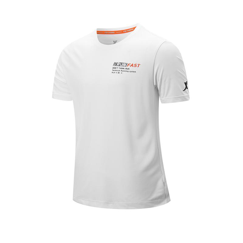 特步 专柜款 男子短袖针织衫 21年新款 休闲运动透气T恤979229010551