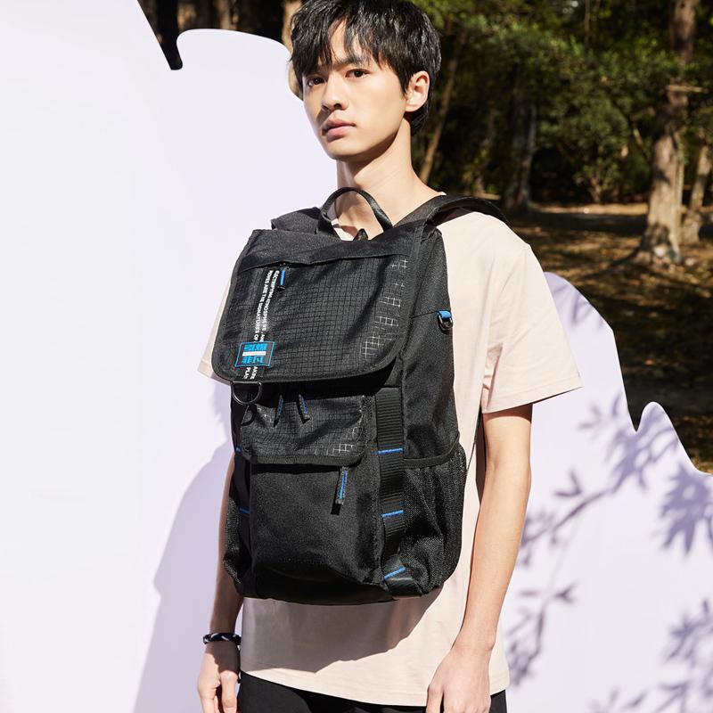 特步 男女双肩包 21年夏季新款 中性双肩包书包运动背包旅游包休闲包879237110003