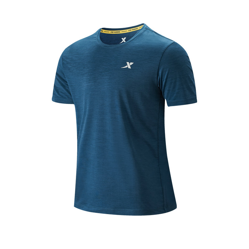 特步 专柜款 男子短袖针织衫 21年新款 舒适轻便跑步时尚轻便T恤979229010244