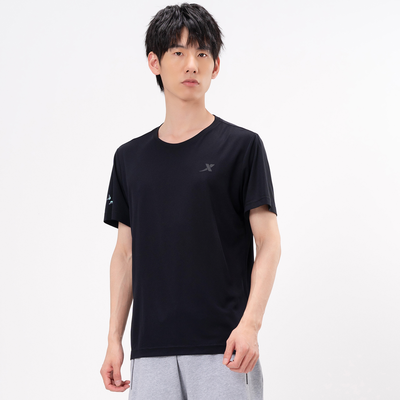 特步 专柜款 男子短袖针织衫 21年新款 舒适健身跑步运动T恤979229010503