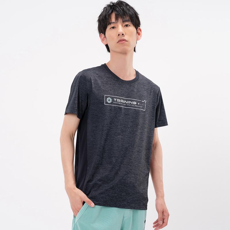 特步 专柜款 男子短袖针织衫 21年新款 舒适修身健身跑步T恤979229010508