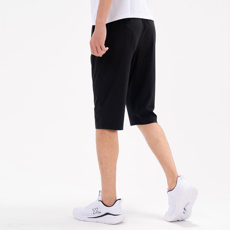 特步 专柜款 男子针织七分裤 21年新款 轻薄运动休闲七分裤979229620540