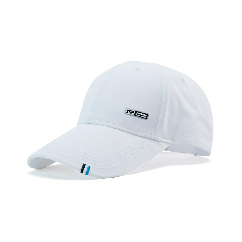 特步 男女同款帽子 21年新款 简约潮流百搭舒适防晒鸭舌帽879137210087