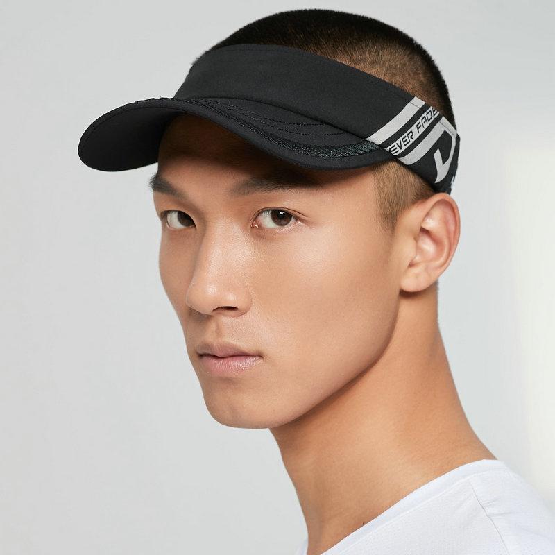 特步 男女同款帽子 21年新款 简约潮流透气经典防晒空顶帽879137260011