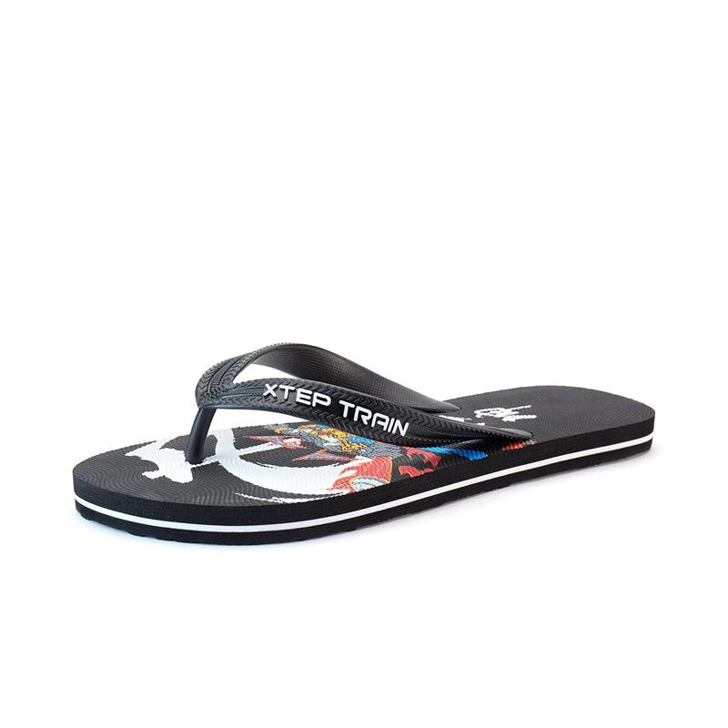 特步 男子人字拖鞋 21年夏新款 舒适休闲居家潮流沙滩鞋879239790031