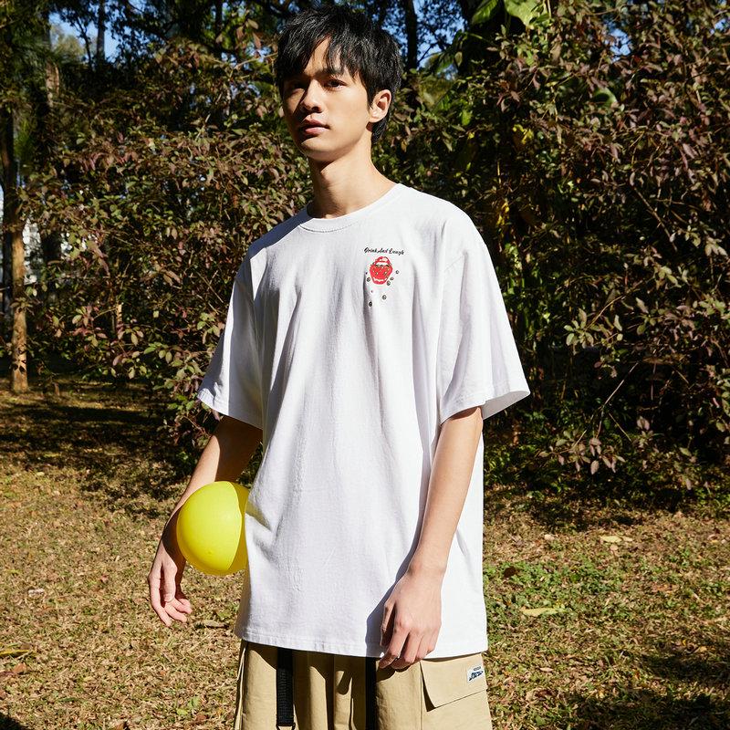 特步 男女同款短袖针织衫 21年新款 透气轻薄休闲T恤879227010171
