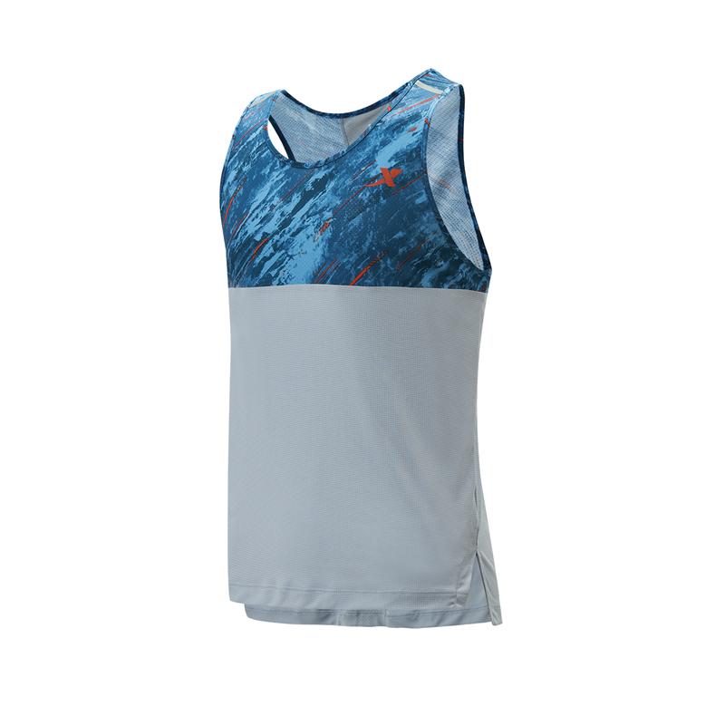 特步 专柜款 男子背心 21年夏季新款 运动跑步轻薄上衣979129090170