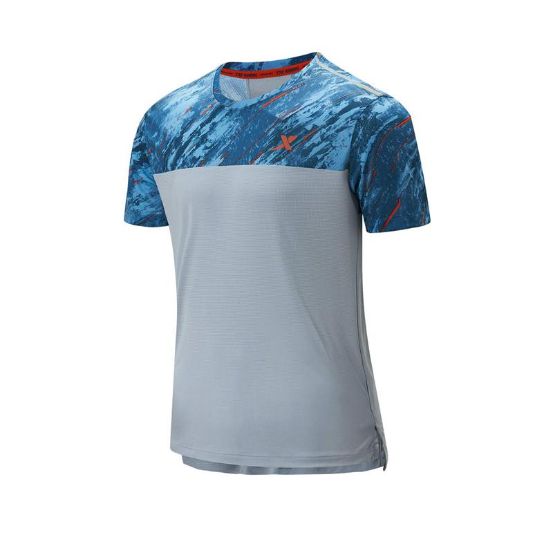 特步 专柜款 男子短袖针织衫 21年新款 健身跑步运动T恤979129010172