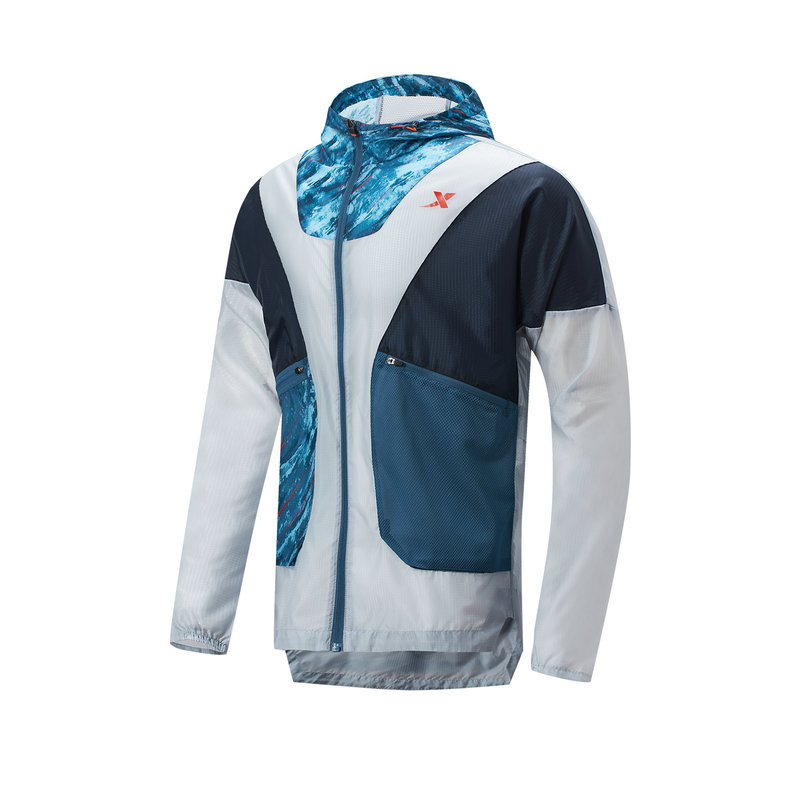 特步 专柜款 男子单风衣 21年新款 运动跑步轻薄风衣979129140171