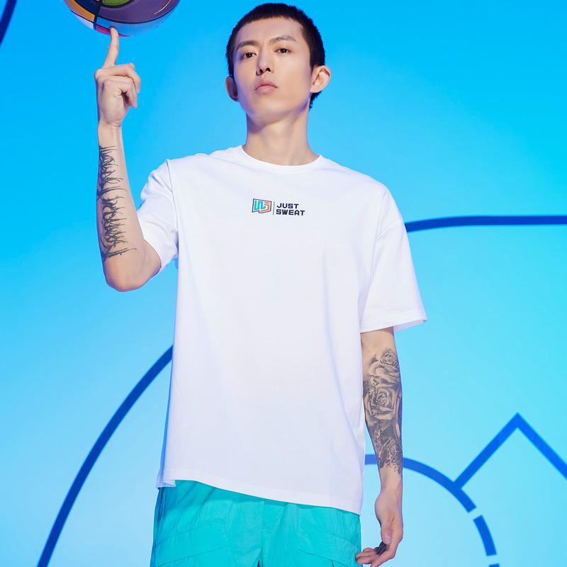 特步 男子短袖针织衫 21年夏季新款 潮流时尚休闲日常短袖T恤879229010051