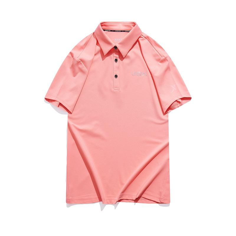 特步 专柜款 女子短袖POLO衫 21年夏季新款 休闲百搭简约POLO衫979228020076