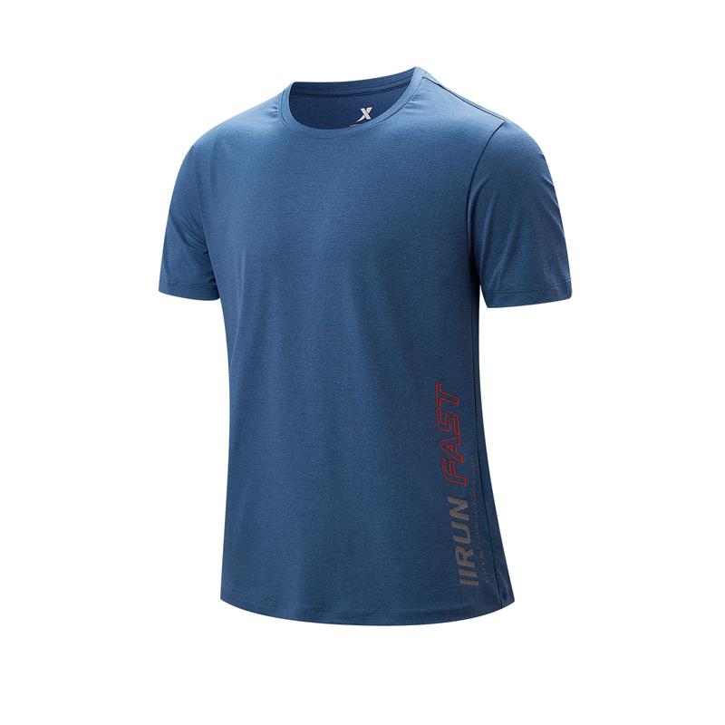 特步 专柜款 男子短袖针织衫 21年夏季新款 跑步健身运动T恤979229010245