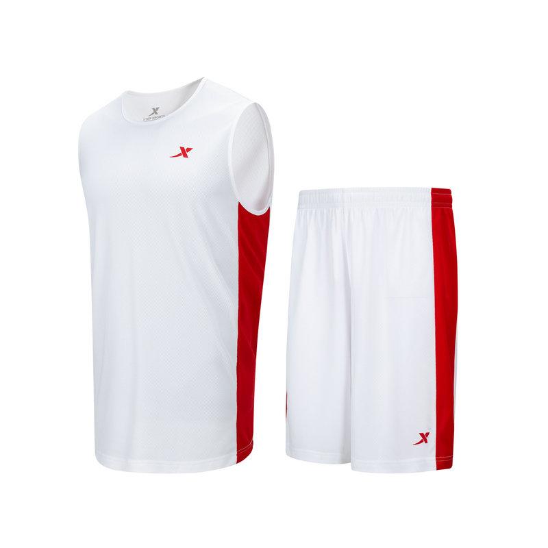特步  男子篮球套装 21年夏季新款 休闲运动篮球跑步运动套装879229820246
