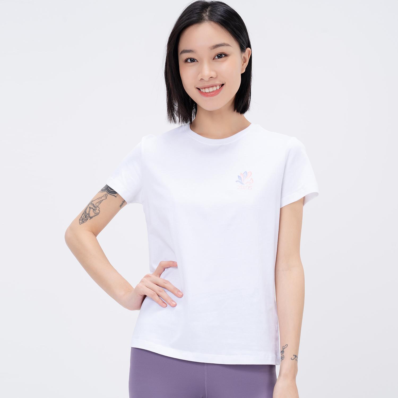 【景甜同款】特步 专柜款 女子短袖针织衫 21年新款 运动跑步透气短袖979228010333